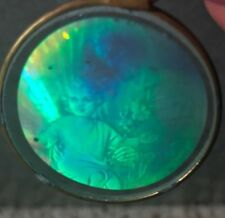 VTG Hologram Glass Pendant Holographic Christian Religious Baby JESUS Christ NOS