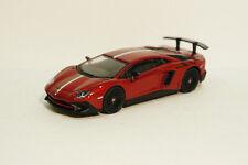 Tarmac Works Lamborghini Aventador SV Rosso Bia with Italian Stripe  1/64