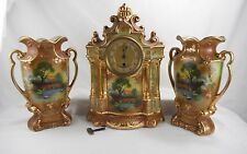 Shaw and Copestake Clock and Vase Set