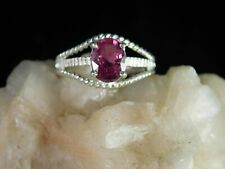 1.43 ct. Rubellite Tourmaline Ring Sterling Silver