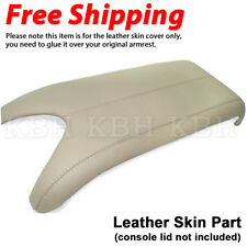 Fits 2007-2012 Acura RDX Leather Center Console Lid Armrest Cover Skin Beige Tan