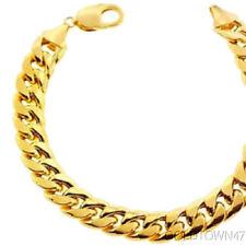 Miami Cuban in 14kt Yellow Gold Men's Bracelet