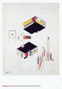 Plakat -  Bauhaus Dessau Franz Ehrlich Architekturentwurf / um 1928 / Nr. 100