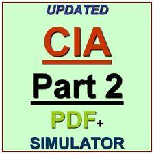 IIA Certified Internal Auditor Part 2 Test CIA Exam QA PDF+Simulator