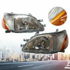 2x Headlight Fits For 2000 2001 2002 Toyota Echo 1 Pair Head Lamps Replacement