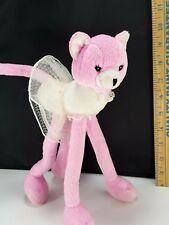 """Vintage Barbie Pink Long Legged Pose Me Cat Plush Stuffed Toy Mattel Wedding 10"""""""