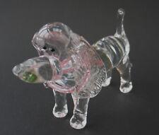 Glas Objekt, Kristallglas Hund Handarbeit