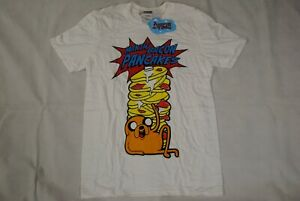 ADVENTURE TIME MAKIN' BACON PANCAKES T SHIRT NEW OFFICIAL FANTASY ANIMATION JAKE