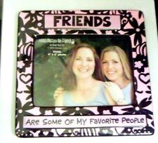 Friends Favorite Picture Frame Hearts 4x6 Pink Black Tabletop Our Name Is Mud