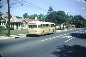 Trenton Transit GM Old Look bus Kodachrome original Kodak slide