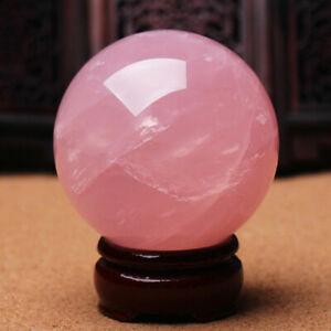 35mm Rose Quartz Ball Pink Crystal Sphere Healing Reiki Gemstone Specimen Gifts