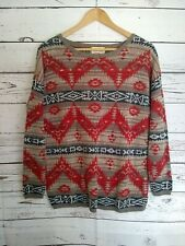 VTG Denim Supply Ralph Lauren Unisex Size M Navajo Aztec Native American Sweater