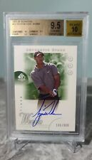 2001 SP Authentic Rookie Autographs #45 Tiger Woods AUTO RC 146/900 BGS 9.5