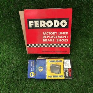TRIUMPH VITESSE DISC BRAKE PADS SHOES - GIRLING GDB 528 - FERODO F268