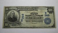 $10 1902 Newark New York NY National Currency Bank Note Bill! Charter #349 VF