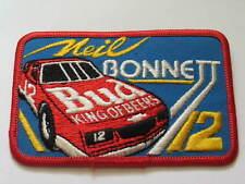 Neil Bonnett Race Car Driver Budweiser King of Beer Racing Patch, #2123(**)