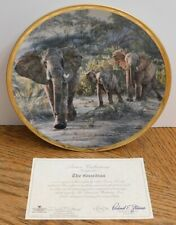 1994 Lenox The Guardian Elephant Collector Plate by Simon Combes King of Plains