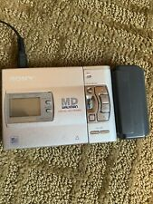Sony Walkman Minidisc Recorder/Player with Power supply and extra battery pack.