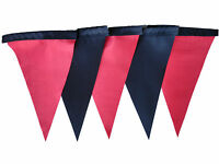 Red and black single sided bunting wedding halloween birthday christmas party