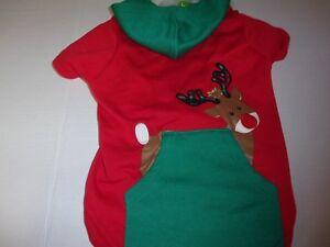 RUDOLF REINDEER Pocker Dog Christmas Hoodie L new pet cat Petco Large holiday