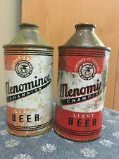 2 Menominee Champion Light Beer Cone Top Beer Can