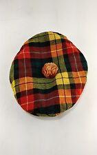 Sweet Vintage Tailored By Brill Highlander Golf Cabbie Newsboy Plaid Retro Hat