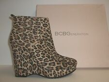 BCBGeneration BCBG Size 7 M Vance 2 Leopard Ankle Boots New Womens Shoes NWOB
