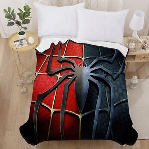 Red Spiderman Super Soft Warm Blanket Throw Rug Micro Plush Fleece Sofa Bedding