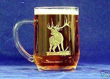 Etched Bull Elk 20oz Coffee/Beer mug