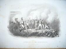 COMBAT DE LA  FERE CHAMPENOISE 25 MARS 1814 GRAVURE XIX ème