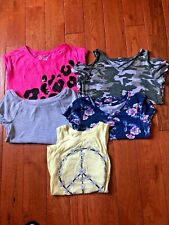 Justice for Girl's Shirts (Lot of 5) - Size 10 and 12