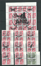 RUSSIA UKRAINE (?) 1994 SELECTION of blocks with WWF overprint VF MNH