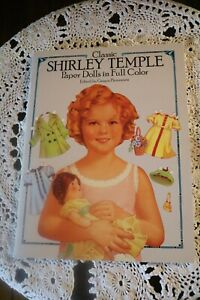 SHIRLEY TEMPLE PAPER DOLLS 3 size of Dolls with matching outfits each Full Color