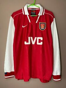 Arsenal 1996-1998 Player Issue Home Vintage Ultra Rare Long Sleeve Shirt Jersey