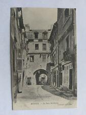Rennes France B&W Postcard c1910 La Porte Mordelaise
