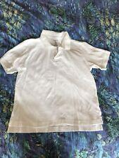 Lands' End Boys Uniform Shirt Sz M 10H-12H Husky 100% Cotton White Short Sleeve