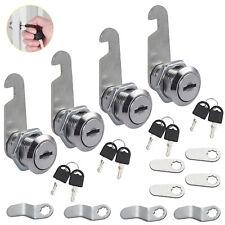 4pcs 20mm Cylinder Cam Key Locks Mail Box File Cabinet Desk Drawer With 8 Keys