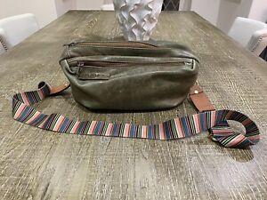 Oska Green Leather Crossbody/shoulder Bag