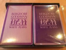 2 Sealed Decks Bergdorf Goodman Department Store White Plains NY Playing Cards