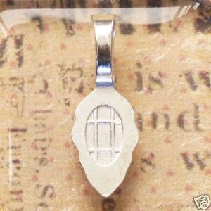 100 - MEDIUM SILVER Plated **AUTHENTIC AANRAKU** Bails Jewelry Pendant Dichroic