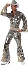 Déguisement Homme Disco Argent XL Costume Combinaison Adulte Années 1980