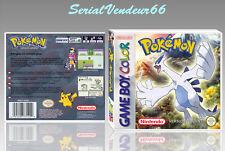 """Boitier du jeu """"POKEMON ARGENT"""",Custom, Game Boy Color. FR. HD. SANS LE JEU."""