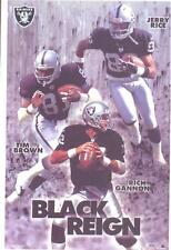 "2001 Oakland Raiders ""Black Reign"" Starline Poster OOP Rice Brown Gannon"
