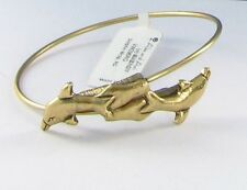 New Alex and Ani Dolphin Wrap Bracelet Discontinued Russian Gold Bangle NWT Sea