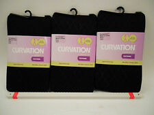 3 Curvation Textured Tights DIAMOND PATTERN ,CURVACEOUS 1,LOT OF 3 PAIR