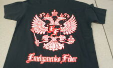 New! Fedor Emelianenko Silver Eagles Shirt - Black Silver Red - Pride, UFC, MMA