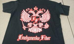 New! Fedor Emelianenko Silver Eagles Shirt - Black Silver Red - Pride, UFC, MMA