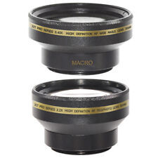 30mm 0.43x Wide Angle + Macro, 2X Telephoto Lens Kit for SONY HANDYCAM DCR-SR45