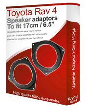 """TOYOTA RAV4 altavoz Soportes adaptadores puerta delantera 17cm 6.5"""" Ajuste"""