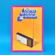 Minikoffersuper Riga 302 Astrad DDR 1974 Prospekt Werbung Import Sowjetunion B